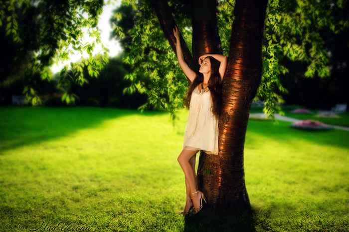 Позы для фотосессии на природе летом для девушек стоя летом