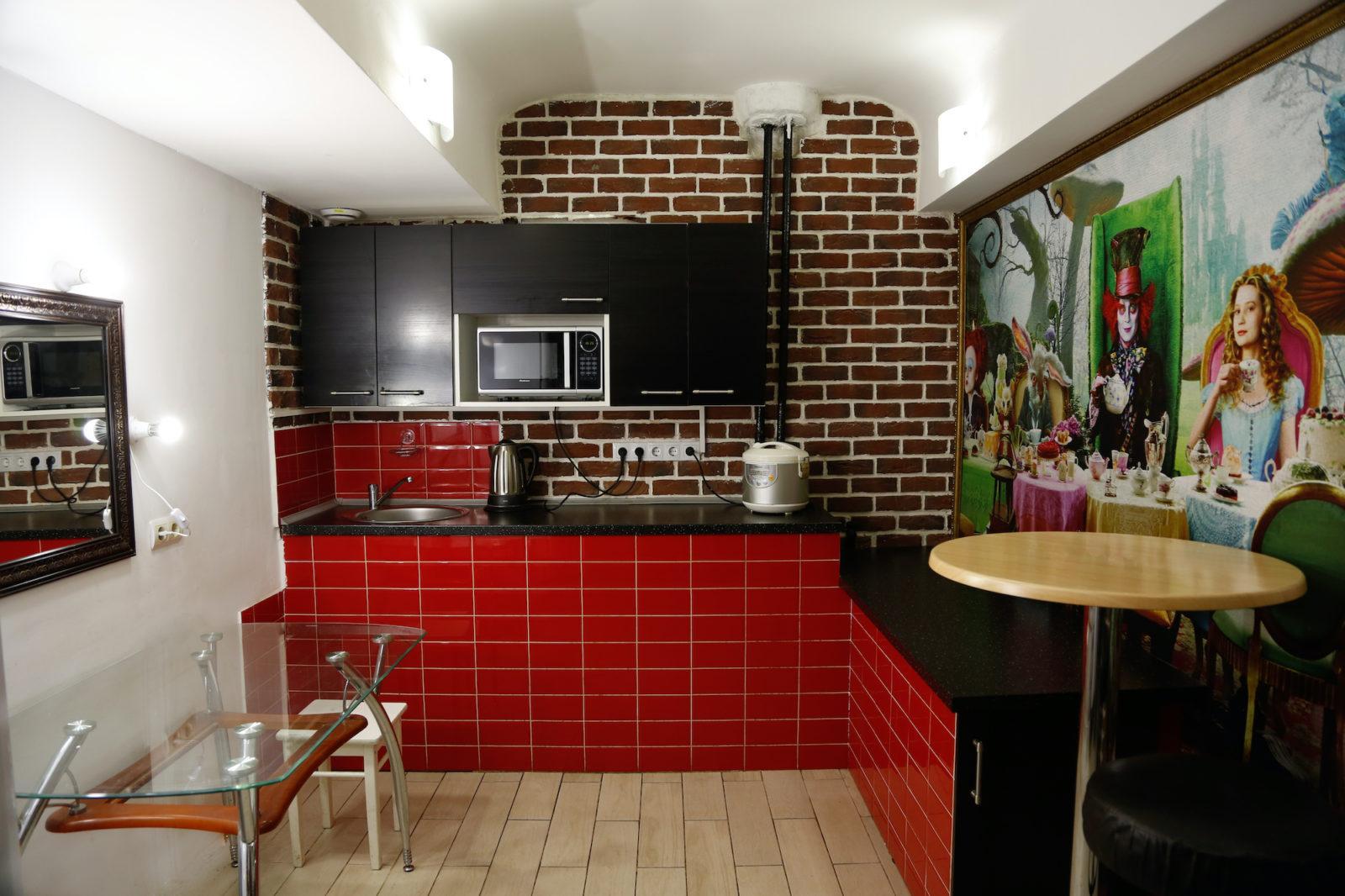 Аренда кухни интерьера фотостудии