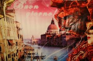Баннер Венеция, венецианский карнавал для фотосессии