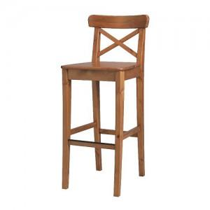 Предметы интерьера фотосутдии - барный стул деревянный