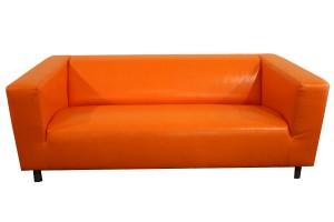 Оранжевый диван Икея