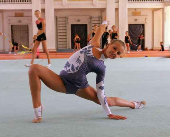 спортивные казусы гимнасток девушек