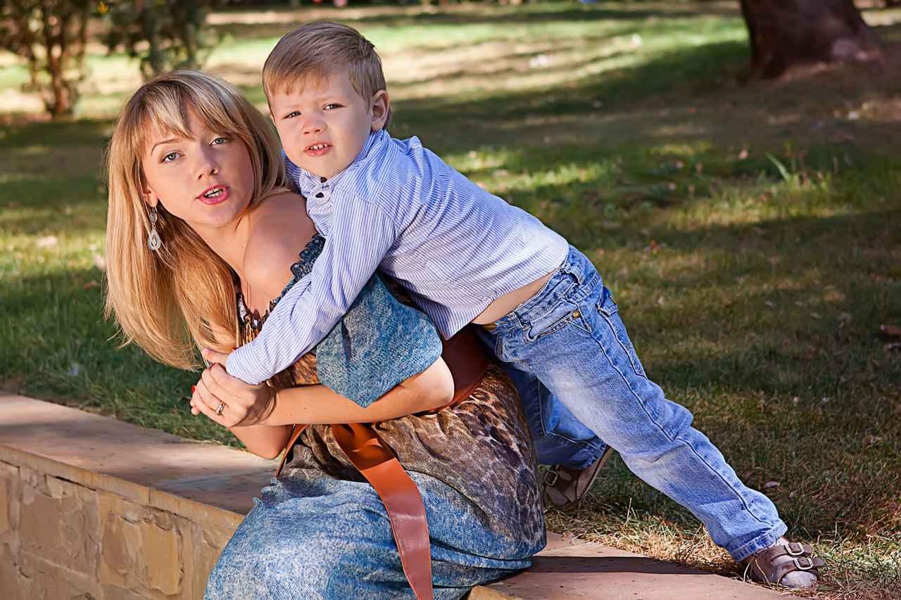 Фотосет мамы с сыном 5 фотография